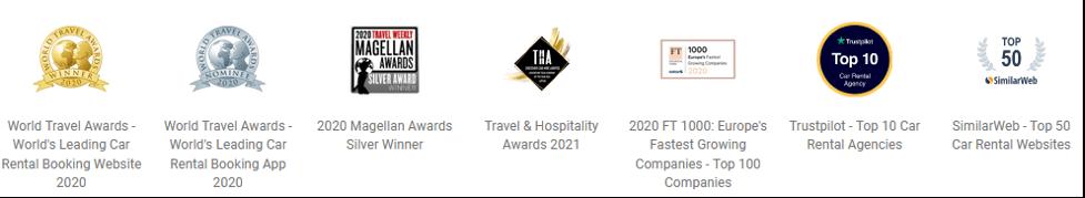 DiscoverCars.com Awards