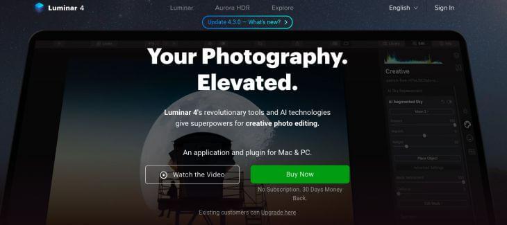 Luminar photo editing mac